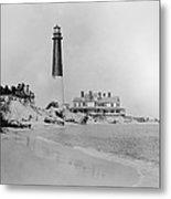 Vintage Barnegat Lighthouse  Metal Print