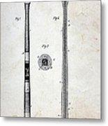 Vintage Baseball Bat Patent Metal Print