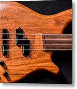 Vintage Bass Guitar Body Metal Print