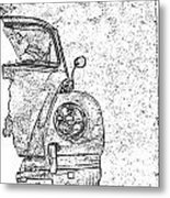 Vintage Beetle Metal Print