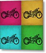 Vintage Bike Pop Art 1 Metal Print