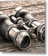 Vintage Binoculars Metal Print