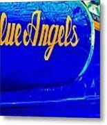 Vintage Blue Angel Metal Print
