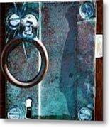 Vintage Boat Door Knob Metal Print