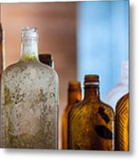 Vintage Bottles Metal Print by Adam Romanowicz