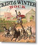Vintage Brewery Ad 1871 Metal Print by Padre Art