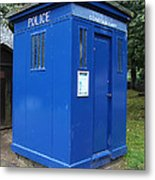 Vintage British Blue Police Phone Box Metal Print