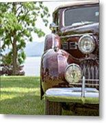 Vintage Caddy At Lake George Metal Print
