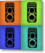 Vintage Camera Pop Art 1 Metal Print