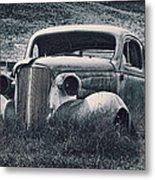 Vintage Car At Bodie Metal Print by Kelley King