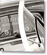 Vintage Car Dashboard Metal Print