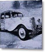Vintage Car Metal Print by David Ridley