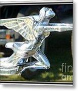Goddess Of Speed Packard Hood Ornament  Metal Print