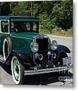 Vintage Cars Green Chevrolet Metal Print