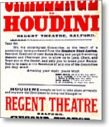 Vintage Challenge Houdini Poster Metal Print by Wingsdomain Art and Photography