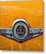 Vintage Checker Taxi Metal Print