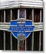 Vintage Chevrolet Grille Emblem Metal Print