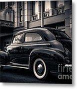 Vintage Chevrolet In 1934 New York City Metal Print