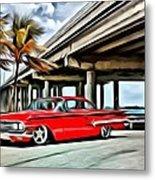Vintage Chevy Impala Metal Print