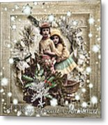 Vintage Christmas Metal Print by Mo T