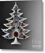 Vintage Christmas Tree Metal Print
