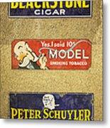 Vintage Cigar And Tobacco Signs Dsc07152 Metal Print
