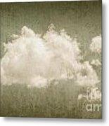 Vintage Clouds Background Metal Print