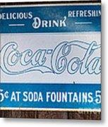 Vintage Coca Cola Ad Metal Print