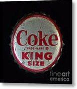 Vintage Coca Cola Bottle Cap Metal Print