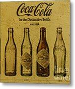 Vintage Coca Cola Bottles Metal Print