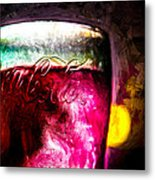 Vintage Coca Cola Glass With Ice Metal Print by Bob Orsillo