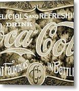 Vintage Coke Metal Print
