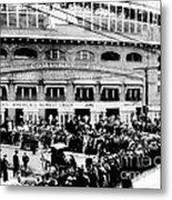 Vintage Comiskey Park - Historical Chicago White Sox Black White Picture Metal Print