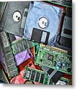 Vintage Computer Parts Metal Print by Paul Ward