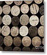 Vintage Corks Metal Print by Jane Rix