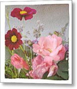Vintage Cottage Garden Metal Print by Tanya Jacobson-Smith