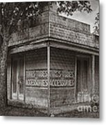 Vintage D'hanis Texas Business Metal Print
