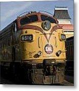 Vintage Diesel Locomotive Metal Print