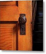 Vintage Door And Stairs Metal Print