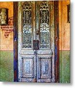 vintage door in Hico TX Metal Print by Elena Nosyreva