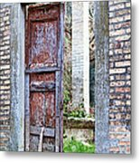 Vintage Doorway Metal Print by Susan Schmitz
