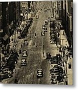 Vintage Downtown View Metal Print
