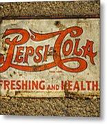 Vintage Drink Pepsi Cola 5 Cents Dsc07157 Metal Print