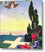 Vintage Easter Card Metal Print