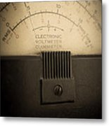 Vintage Electric Meter Metal Print