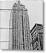 Vintage Empire State Building Metal Print
