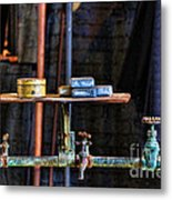Vintage Factory Sink Metal Print
