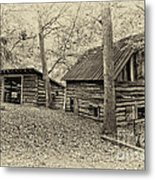 Vintage Farm Buildings Metal Print