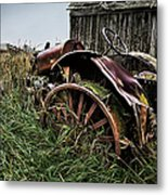 Vintage Farm Tractor Color Metal Print