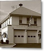 Congers, New York - Vintage Firehouse Metal Print